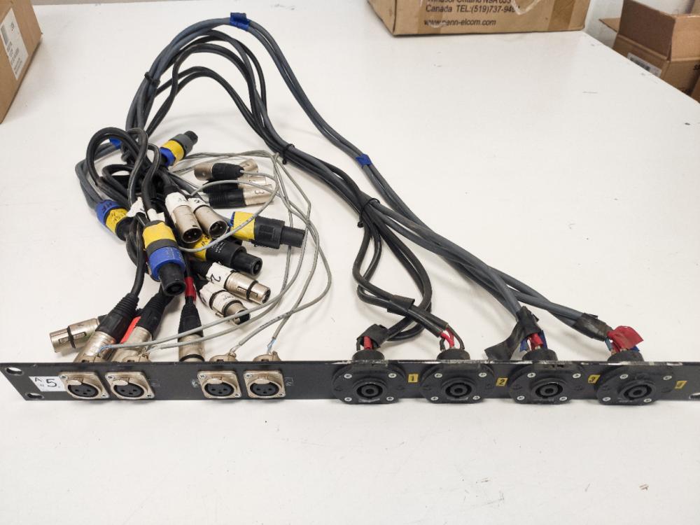 I/O panel for amprack 1U